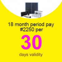 (Initial Deposit ₦10,000) 18 Months'Beebeesolar P1 Stand-Alone System