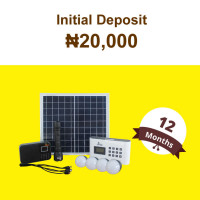 (Initial Deposit ₦20,000) 12 Months'Beebeesolar P1 Stand-Alone System