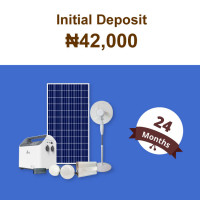 (Initial Deposit ₦42,000)Beebeesolar S1 Stand-Alone System