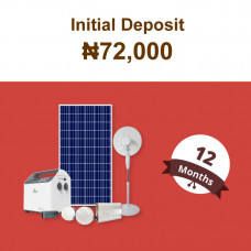 (Initial Deposit ₦72,000)Beebeesolar S1 Stand-Alone System